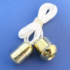 Gold Acorn and Cord Connector Set (CC/CAG)